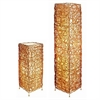 Ore International Rectangle Rattan Lamp Set - Table Lamp + Floor Lamp