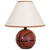 Ore International Ceramic Basketball Table Lamp