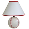 "12""H Ceramic Baseball Table Lamp"