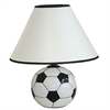 "12""H Ceramic Soccer Ball Table Lamp"