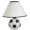 """Ore International 12""""H Ceramic Soccer Ball Table Lamp"""