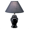"13""H Ceramic Table Lamp - Black"