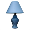 "Ore International 13""H Ceramic Table Lamp - Blue"