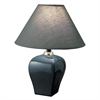 "Ore International 13""H Ceramic Table Lamp - Green"