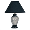 "Ore International 13""H Ceramic Table Lamp - Black"