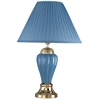 "Ore International 27"" Ceramic Table Lamp - Blue"