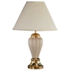 "Ore International 27"" Ceramic Table Lamp - Ivory"