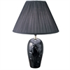 "Ore International 26"" Ceramic Table Lamp - Black"