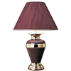 "32"" Metal Table Lamp - Burgundy"