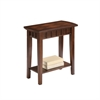 "Ore International 24"" Traditional  Light Espresso Side/End Table"