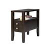 "24"" Traditional Dark Espresso With 2 Drawers Side/End Table"