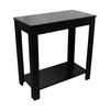 "Ore International 24""H Black Chairside Table"