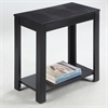 "Ore International 24""H Black Crocodile Top Table"