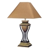 "Ore International 32""H Home Deco Table Lamp - Antique Bronze/Gold"