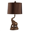 "Ore International 27""H Bronze Elephant Table Lamp"