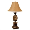 "Ore International 32""H Pineapple Table Lamp - Antique Gold"