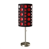 "Ore International 33""H Modern Retro Black-Red Table Lamp"
