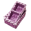 "3.75""H, 3.25""H Polypropylene Purple Tray Set of 4, Set of 4"