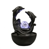 "Ore International 9""H Dolphin Tabletop Fountain"