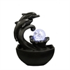 "9""H Dolphin Tabletop Fountain"