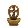 "9""H Tabletop Cross Led Fountain"