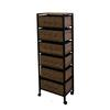 "Ore International 52.5""H 6 Drawer Black Frame Rack On Wheels  ( Cheetah Print )"