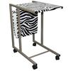 "Ore International 24.25""H Laptop Cart ( Zebra Print )"