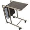 "Ore International 24.25""H Laptop Cart ( Black/Gold Marble Print )"