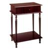 "Ore International Rectangle Side Table - Cherry (28"")"