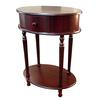 "Ore International Oval Side Table - Cherry (28"")"
