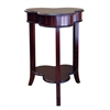 Ore International Shamrock End Table - Cherry