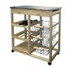 Ore International Wood Kitchen Cart
