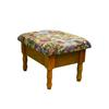 Ore International Oak Foot Stool With Storage