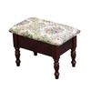"10""H Cherry Foot Stool With Storage"