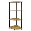 Ore International 4-Tier Corner Bookshelf