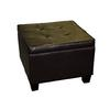 Ore International Modern Brown Room Fit Storage Ottoman
