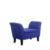 Ore International Light Blue Storage Bench