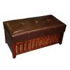 Ore International Brown Cushion Storage Wooden Bench