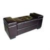 Ore International Dark Brown Open Storage Bench