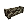 Ore International Black Floral Storage Bench