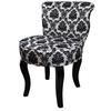 "31""H French Black/White Damask Accent Chair"