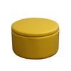 "13.5""H Yellow Storage Ottoman W/ 4 Seating"