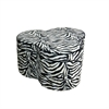 "Ore International 17.5""H Zebra Storage Ottoman W/ 3 Seating"
