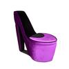 Ore International Purple/Black High Heel Storage Chair