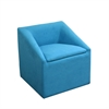"20.75""H Sky Blue Accent Chair W/ Storage"
