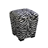 "Ore International 19.5""H Zebra Storage Ottoman"