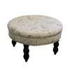 "19.5""H Old World Round Signature Ottoman"