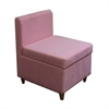"28.5""H Accent Chair With Storage ( Pink )"