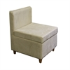"Ore International 28.5""H Accent Chair With Storage (Cream)"