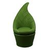 "Ore International 48""H Green Leaf Swivel Chair"